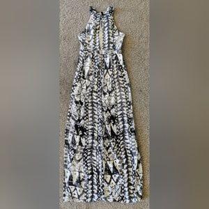 ANGL Halter Neck Front/Back Keyhole Maxi Dress, S